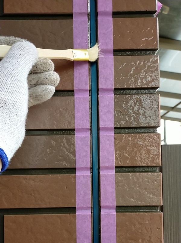 茨城県古河市 Y様邸 外壁塗装・付帯部塗装 劣化補修 ひび割れ、シーリング工事 (6)
