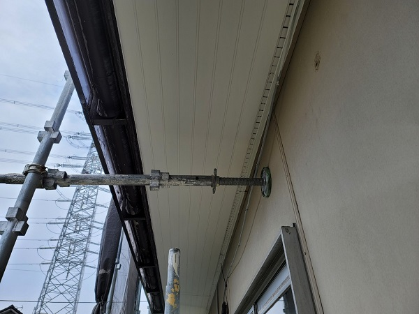 埼玉県北葛飾郡杉戸町 F様邸 屋根塗装・付帯部塗装 軒天塗装 ニッペ ケンエース (2)
