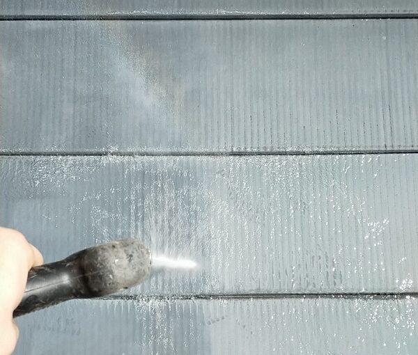 埼玉県白岡市 O様邸 屋根塗装 下地処理 高圧洗浄 (4)