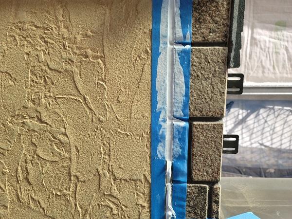 埼玉県久喜市南栗橋 T様邸 屋根塗装・外壁塗装・付帯部塗装 シーリング工事(コーキング工事) 工程 (2)