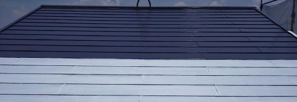 埼玉県白岡市 O様邸 屋根塗装 中塗り・上塗り 日本ペイント サーモアイ4F (3)