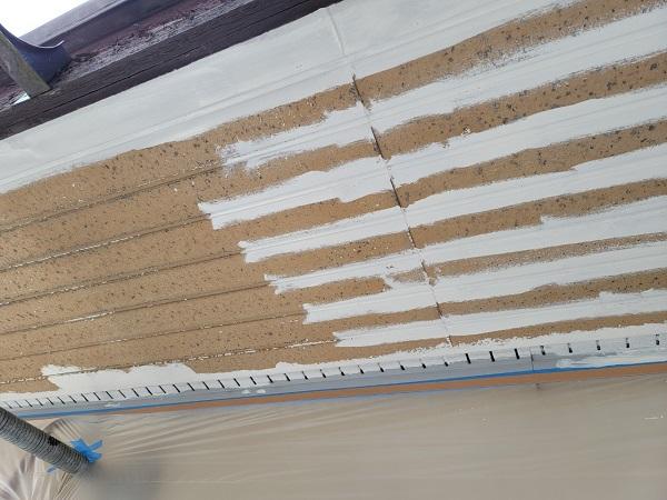 埼玉県北葛飾郡杉戸町 F様邸 屋根塗装・付帯部塗装 軒天塗装 ニッペ ケンエース (4)