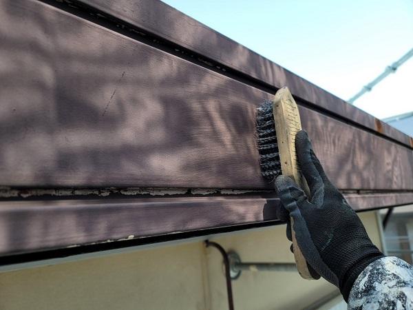 埼玉県北葛飾郡杉戸町 F様邸 屋根塗装・付帯部塗装 破風 (7)