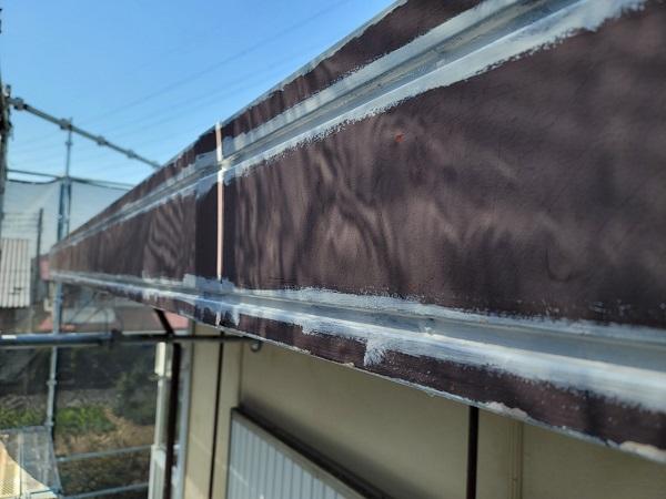 埼玉県北葛飾郡杉戸町 F様邸 屋根塗装・付帯部塗装 破風 (5)