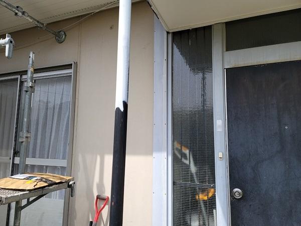埼玉県北葛飾郡杉戸町 F様邸 屋根塗装・付帯部塗装 玄関ドア、ドア廻り、玄関柱塗装 (7)