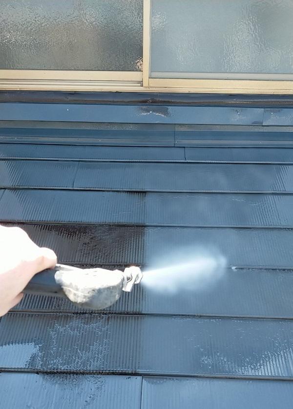 埼玉県白岡市 O様邸 屋根塗装 下地処理 高圧洗浄 (6)