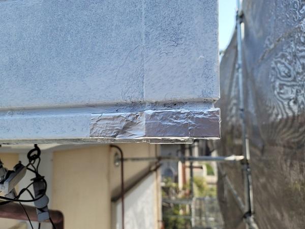 埼玉県北葛飾郡杉戸町 F様邸 屋根塗装・付帯部塗装 破風 (2)