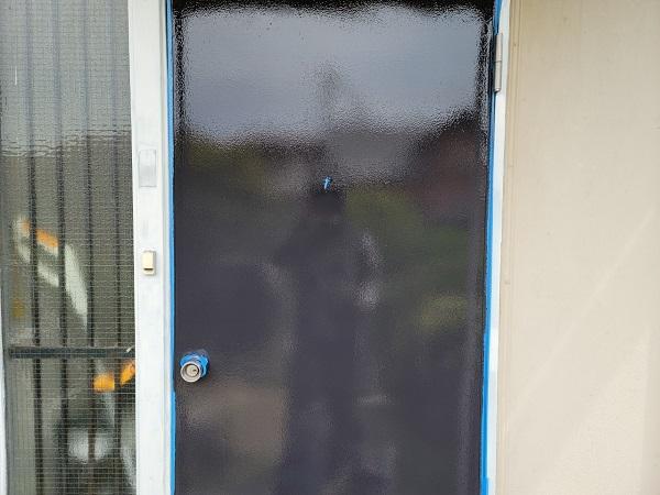 埼玉県北葛飾郡杉戸町 F様邸 屋根塗装・付帯部塗装 玄関ドア、ドア廻り、玄関柱塗装 (2)