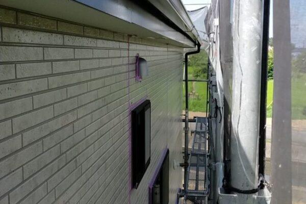雨樋の塗装の画像